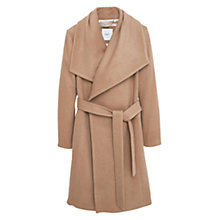 Buy Mango Flap Wool Coat, Medium Brown Online at johnlewis.com