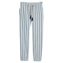 Buy Mango Striped Trousers, Light Beige Online at johnlewis.com