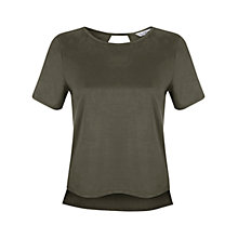 Buy Miss Selfridge Suedette T-Shirt Online at johnlewis.com