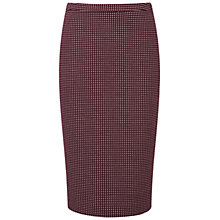 Buy Pure Collection Latchmere Jacquard Pencil Skirt, Merlot Online at johnlewis.com