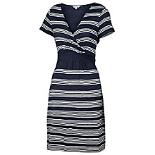 Buy Fat Face Camille Stripe Dress, Navy Online at johnlewis.com