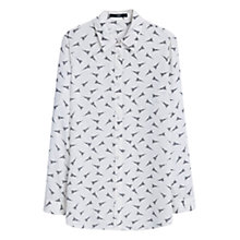 Buy Mango Flowy Printed Blouse, Natural White Online at johnlewis.com