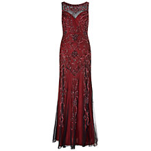Buy Ariella Amya Full Length Beaded Evening Dress, Merlot Online at johnlewis.com