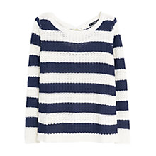 Buy Mango Striped Sweater, Navy Online at johnlewis.com