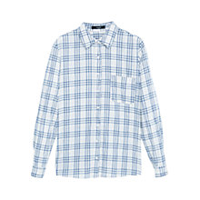 Buy Mango Check Cotton Shirt, Navy Online at johnlewis.com