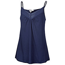 Buy Fat Face Allendale Macrame Camisole, Navy Online at johnlewis.com