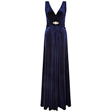 Buy Ariella Milo Velvet Maxi Dress, Navy Online at johnlewis.com