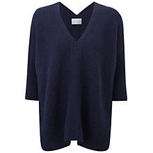 Buy Pure Collection Usborne Gassato Poncho, Navy Online at johnlewis.com