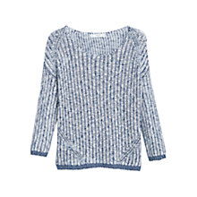 Buy Mango Open-Knit Jumper, Light Beige Online at johnlewis.com