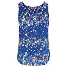 Buy Oasis Peony Stripe Scallop Vest, Multi/Blue Online at johnlewis.com