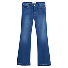 Buy Mango Open Flared Jeans, Open blue Online at johnlewis.com
