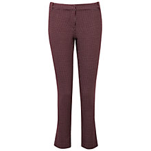 Buy Pure Collection Farringdon Trousers, Merlot Jacquard Online at johnlewis.com