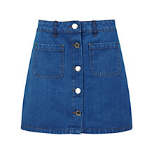 Buy Miss Selfridge Denim Skirt, Mid Wash Online at johnlewis.com