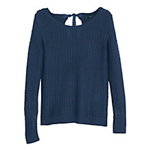Buy Mango Reverse Knit Sweater, Navy Online at johnlewis.com