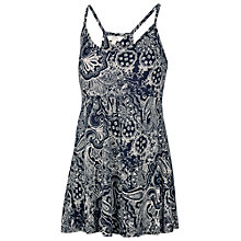 Buy Fat Face Racer Bandana Print Camisole, Navy Online at johnlewis.com
