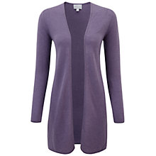 Buy Pure Collection Gassato Cashmere Quinton Cardigan, Smokey Mauve Online at johnlewis.com