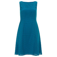 Buy Adrianna Papell Burnout Stripe Dress, Teal Online at johnlewis.com