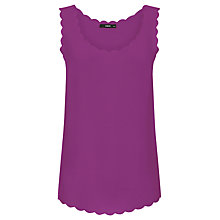 Buy Oasis Scallop Pricepoint Vest Top, Mid Pink Online at johnlewis.com