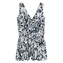 Buy Mango Printed Short Jumpsuit, Natural White Online at johnlewis.com