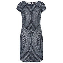 Buy Adrianna Papell Fully Beaded Cap Sleeve Dress, Twilight Online at johnlewis.com