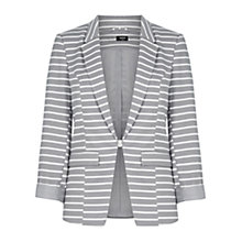 Buy Oasis Stripe Ponte Jacket, Multi/Grey Online at johnlewis.com