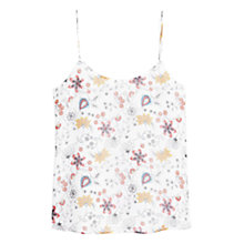 Buy Mango Flowy Floral Print Vest, Natural White Online at johnlewis.com