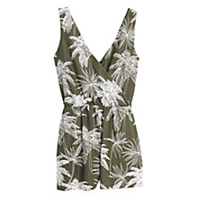 Buy Mango Printed Jumpsuit, Beige / Khaki Online at johnlewis.com