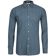 Buy Ted Baker Organix Scatter Leaf Print Cotton Shirt Online at johnlewis.com