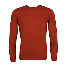 Buy Ted Baker Ramatak Merino Wool Jumper, Dark Orange Online at johnlewis.com