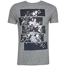Buy Ted Baker Swolow Graphic Print T-Shirt, Grey Marl Online at johnlewis.com