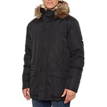 Buy Original Penguin Padded Parka, True Black Online at johnlewis.com