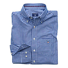 Buy Gant Gingham Cotton Long Sleeve Shirt, Crisp Blue Online at johnlewis.com