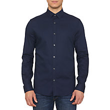 Buy Original Penguin Raw Micro Gingham Shirt, Medieval Blue Online at johnlewis.com
