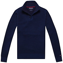 Buy Tommy Hilfiger Tylor Button Mock Neckline Jumper, Navy Blazer Online at johnlewis.com