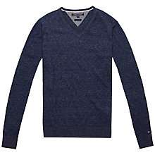 Buy Tommy Hilfiger Pacific Cotton V Neck Jumper Online at johnlewis.com