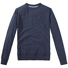 Buy Tommy Hilfiger Bobby Dot Print Sweatshirt, Navy Blazer Online at johnlewis.com