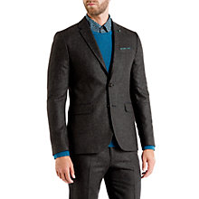 Buy Ted Baker Edeson Micro Design Wool Jacket, Grey Online at johnlewis.com