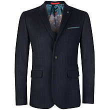 Buy Ted Baker Chalk Stripe Wool Blazer, Navy Online at johnlewis.com