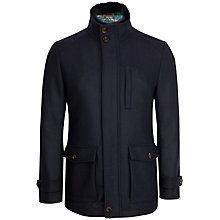 Buy Ted Baker Bartley Wool Funnel Collar Coat, Navy Online at johnlewis.com