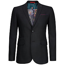 Buy Ted Baker Bayvil Birdseye Suit Jacket, Charcoal Online at johnlewis.com