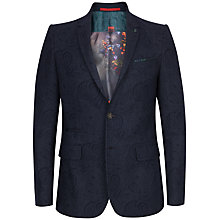Buy Ted Baker Hiko Paisley Print Blazer, Navy Online at johnlewis.com