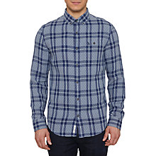 Buy Original Penguin Wad Gingham Overstitch Shirt, Flintstone Online at johnlewis.com
