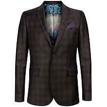 Buy Ted Baker Yonkers Check Wool Suit Jacket, Brown Online at johnlewis.com