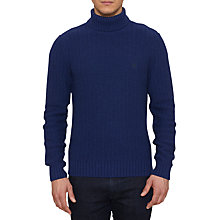 Buy Original Penguin Lodge Roll Neck Jumper, Medieval Blue Online at johnlewis.com