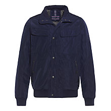 Buy Tommy Hilfiger Calder Padded Bomber Jacket, Navy Online at johnlewis.com