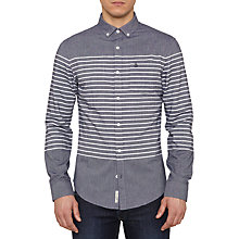 Buy Original Penguin Villa Stripe Denim Shirt, Blue Online at johnlewis.com