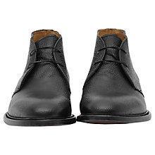 Buy Reiss Alfred Leather Desert Boots, Black Online at johnlewis.com
