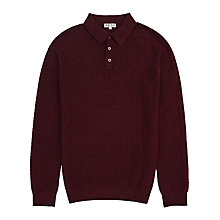 Buy Reiss Wish Knitted Long Sleeve Polo Shirt Online at johnlewis.com