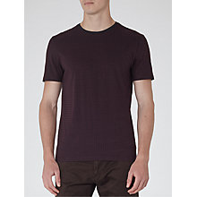 Buy Reiss Gold Geometric Print T-Shirt, Bordeaux Online at johnlewis.com