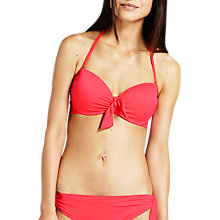 Buy Mint Velvet Bandeau Bikini Top, Pink Papaya Online at johnlewis.com